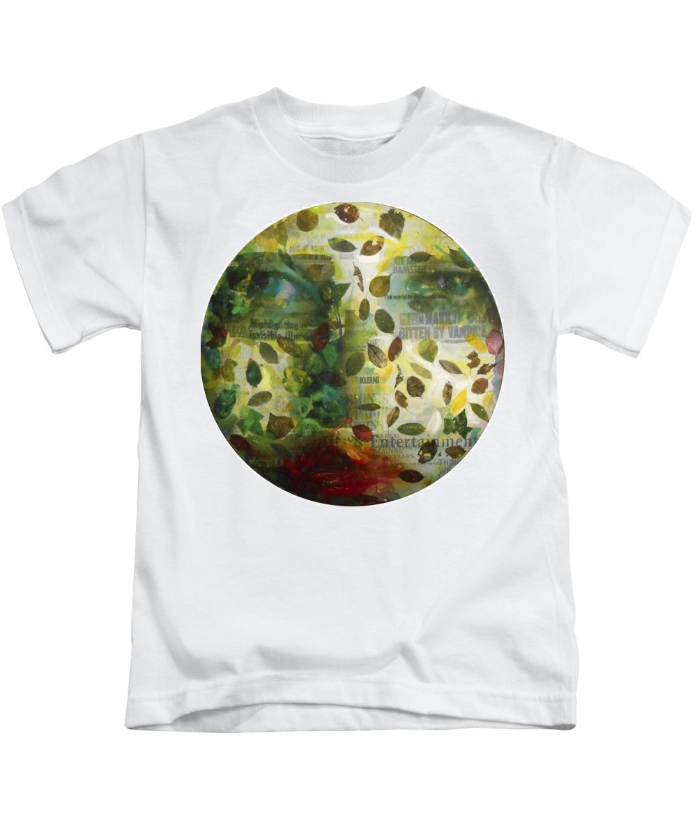 Close-up Kids T-Shirt featuring the painting Dripping Souls by Alfredo Gonzalez