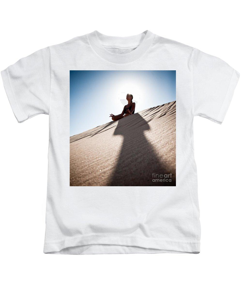 Yoga Kids T-Shirt featuring the photograph Dry Meditation by Scott Sawyer