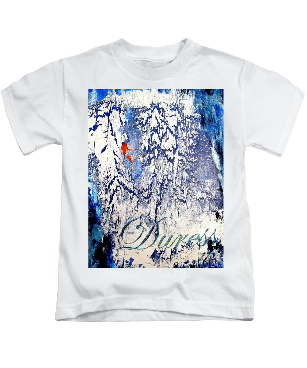 Abstract Art Kids T-Shirt featuring the painting Duress by Laura Pierre-Louis