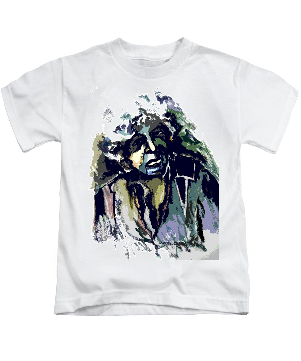 Bob Dylan Kids T-Shirt featuring the painting Dylan by Mindy Newman