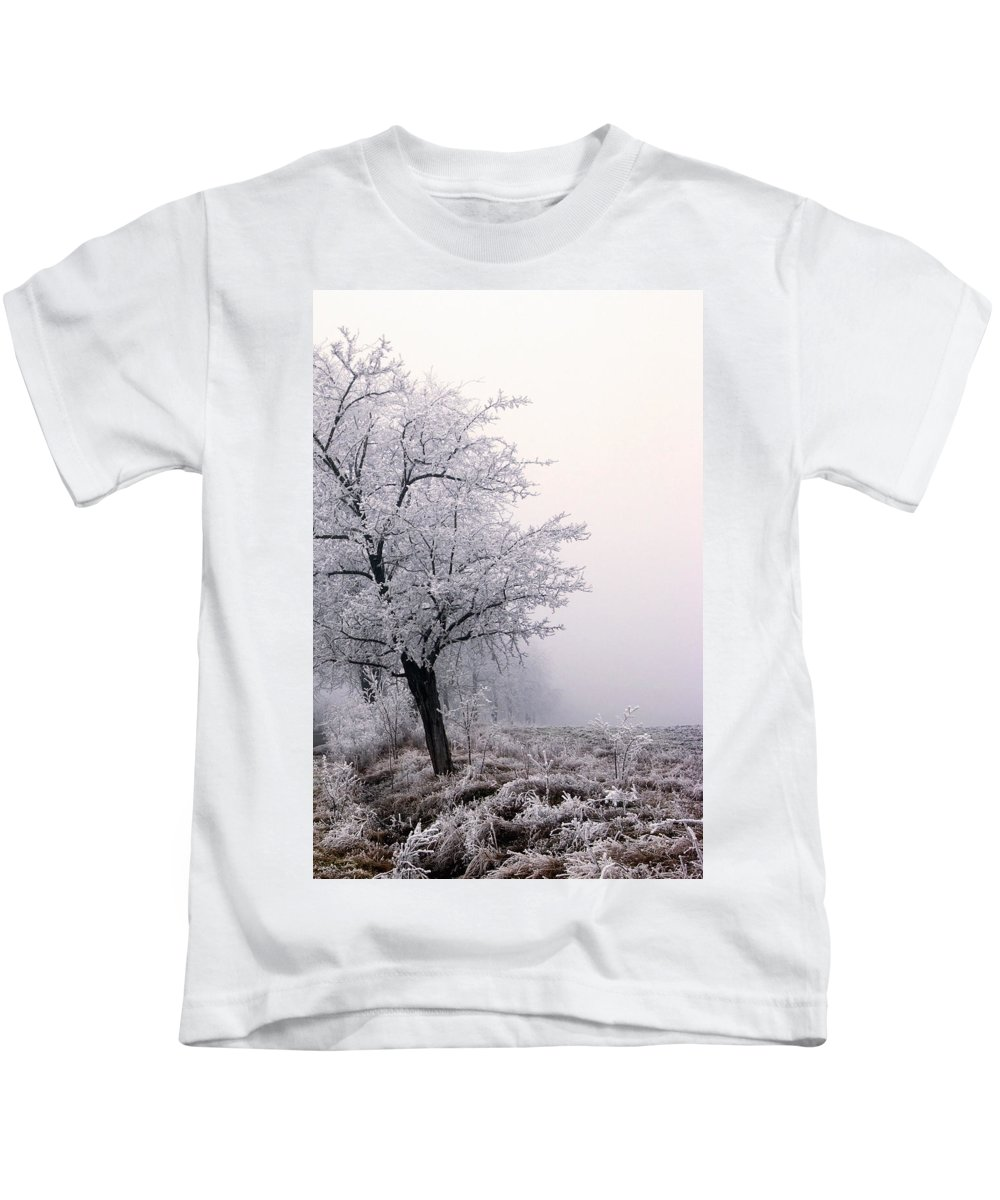 Frost Kids T-Shirt featuring the photograph Early Morning Frost by Cliff Norton