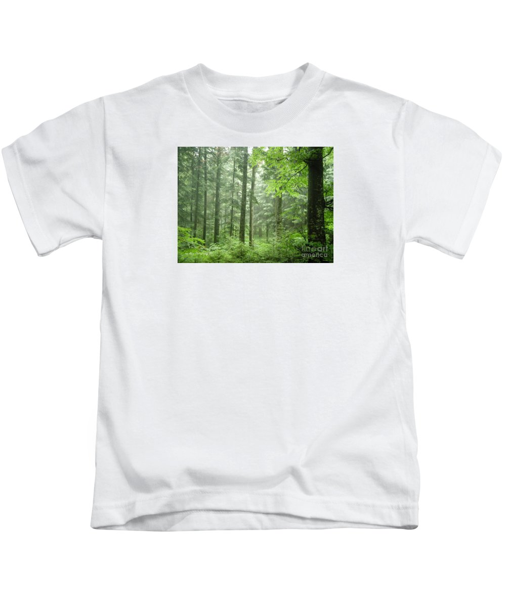 Nature Kids T-Shirt featuring the photograph Early Morning In Swiss Forest by Mikhael van Aken