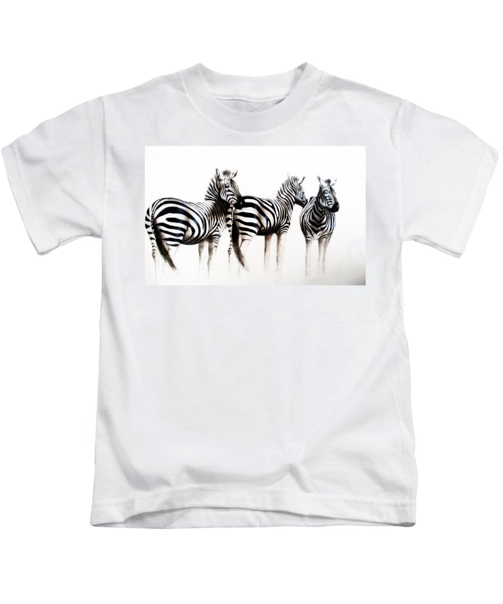 Africa Kids T-Shirt featuring the painting Early Morning by Tracey Armstrong