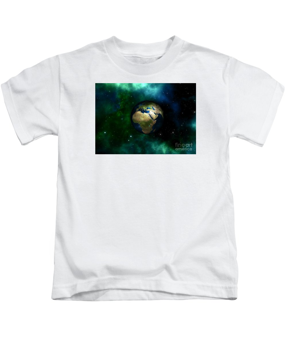 Witchcraft Kids T-Shirt featuring the digital art Earth by Frederick Holiday