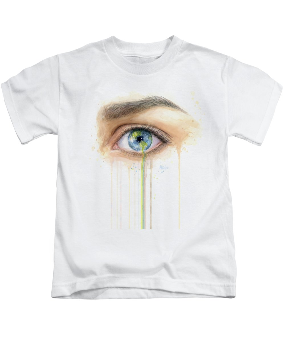 Solar Planets Paintings Kids T-Shirts