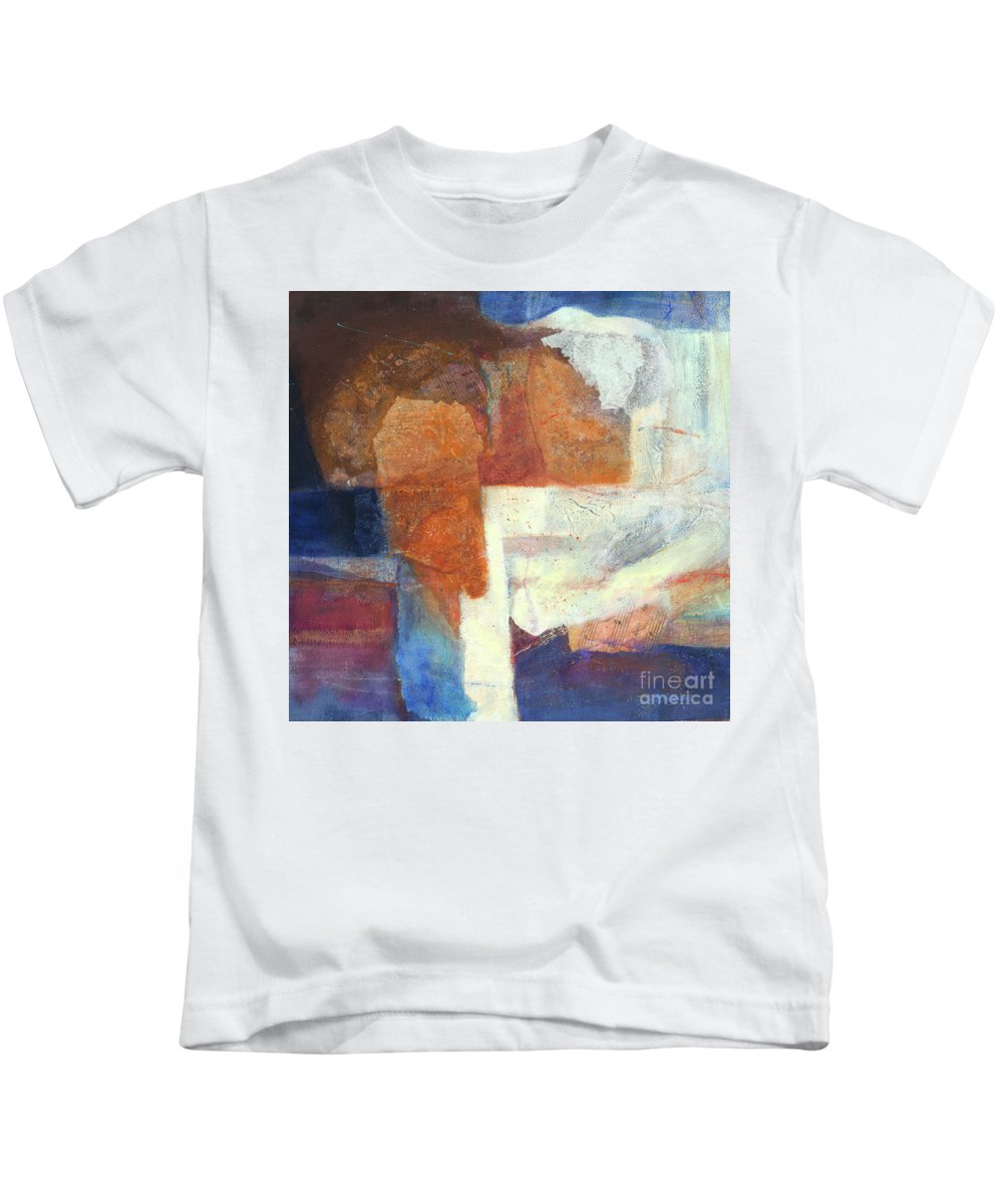 Acrylic Kids T-Shirt featuring the mixed media Ebb And Flow by Lynne Reichhart