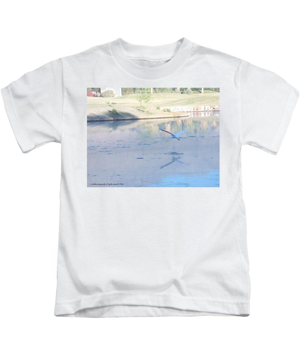 Egret Kids T-Shirt featuring the photograph Egrets Reflection by Russ Bertlow