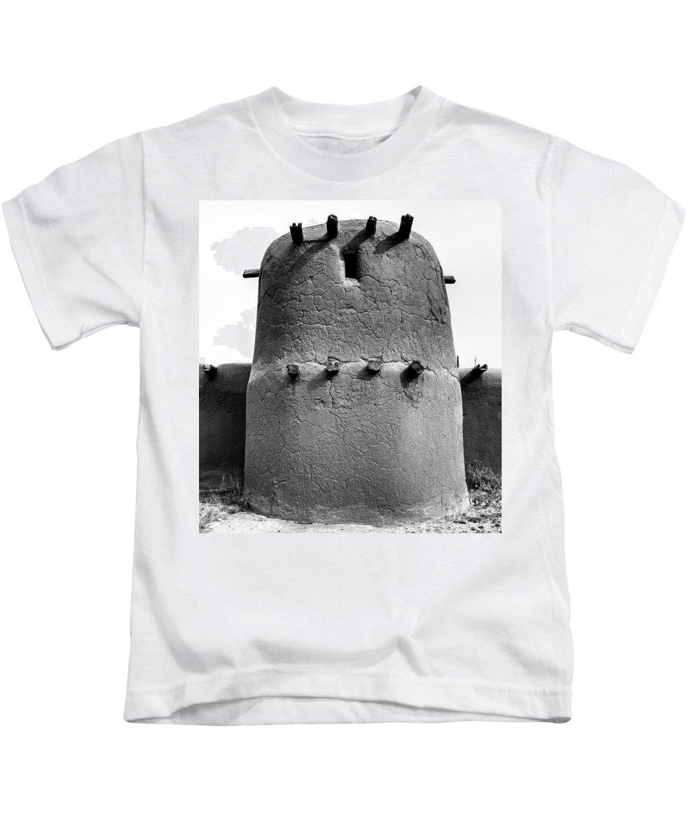 Rancho Kids T-Shirt featuring the photograph El Rancho De Las Golondrinas, Santa Fe, New Mexico, March 11, 20 by Mark Goebel