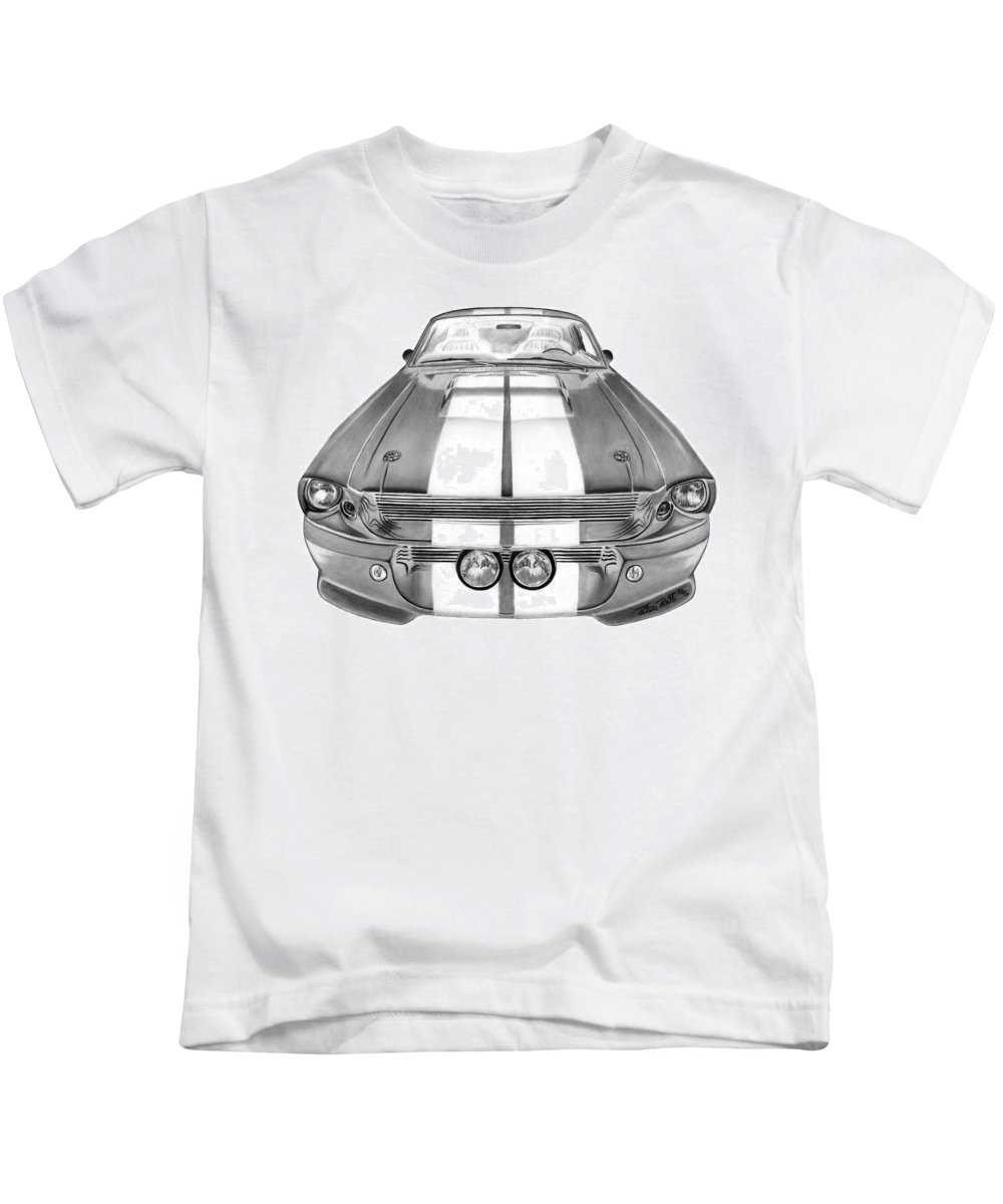 Eleanor Inverted Kids T-Shirt featuring the drawing Eleanor Inverted by Peter Piatt