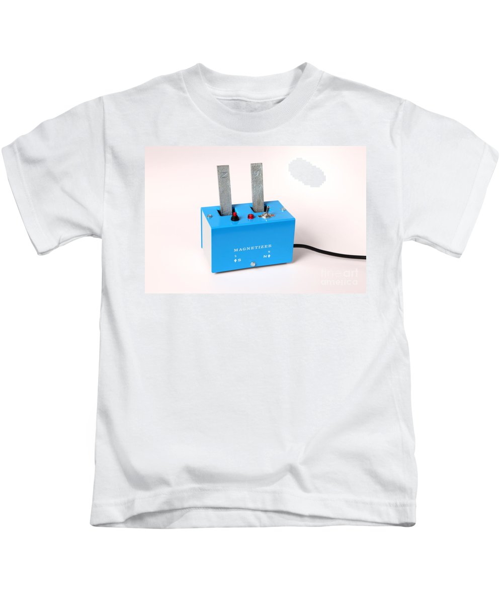 Magnet Kids T-Shirt featuring the photograph Electro-magnet Magnetizer by Ted Kinsman