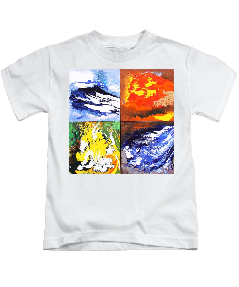 Elements Kids T-Shirt featuring the painting Elements by Ralph White