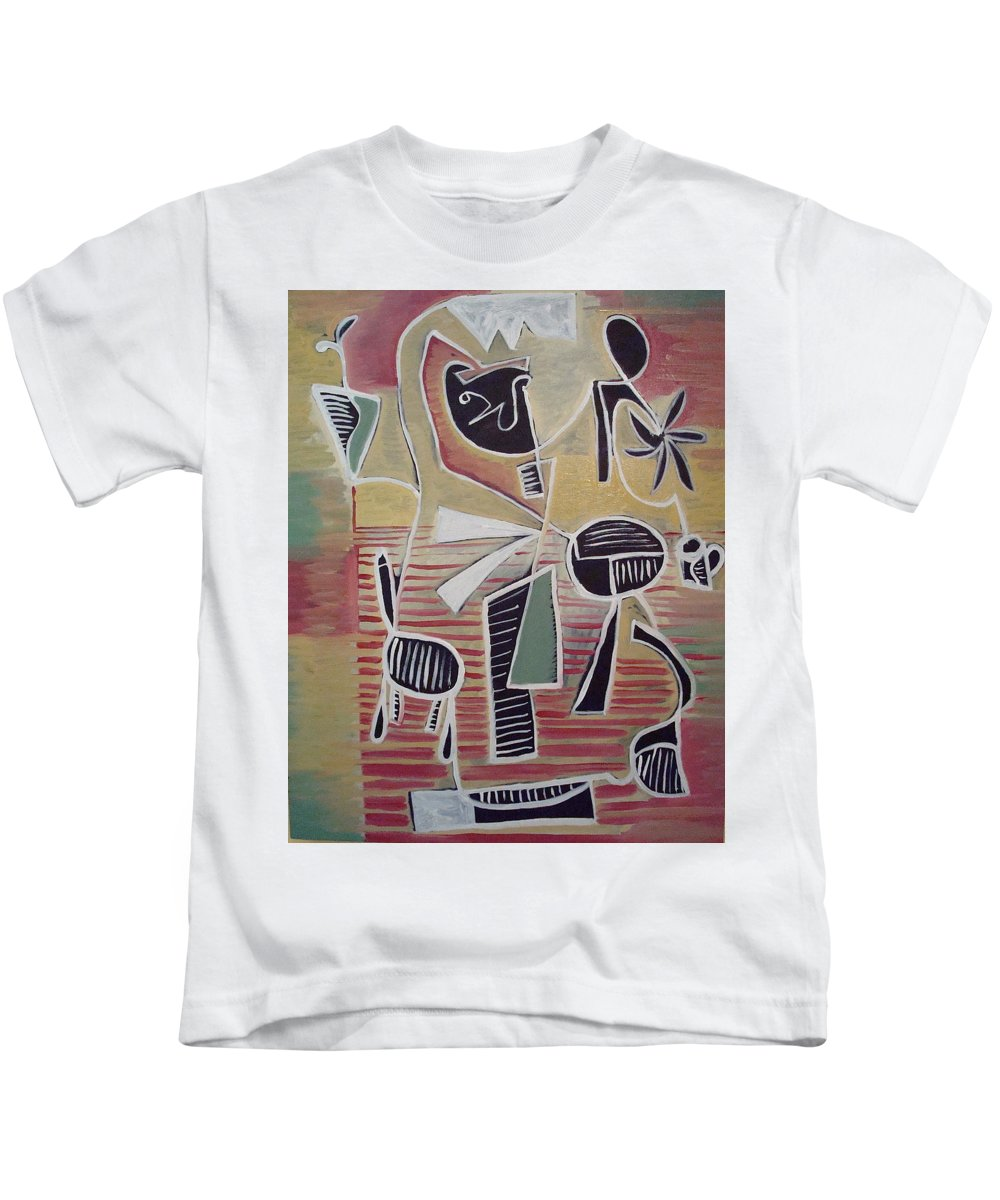 Abstract Kids T-Shirt featuring the painting End Cup by W Todd Durrance