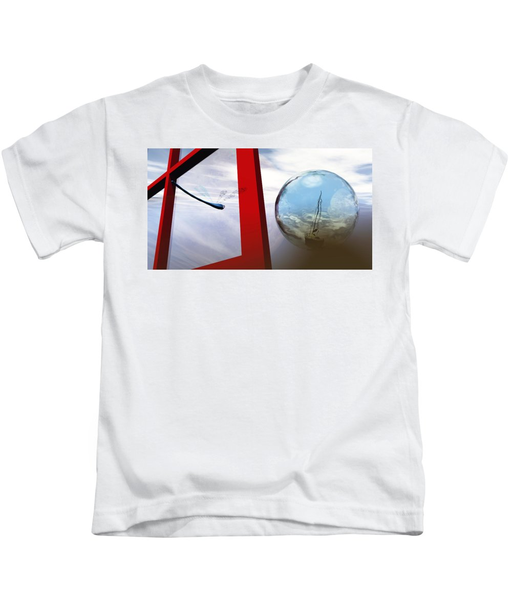 Surreal Kids T-Shirt featuring the digital art Endless Voyage by Richard Rizzo