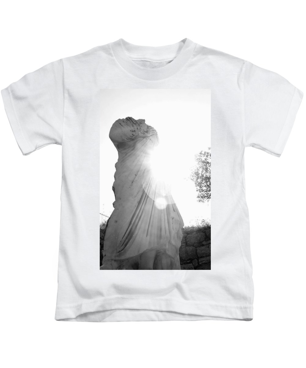 Statue Kids T-Shirt featuring the photograph Ephesian Statue by Jennifer Kelly