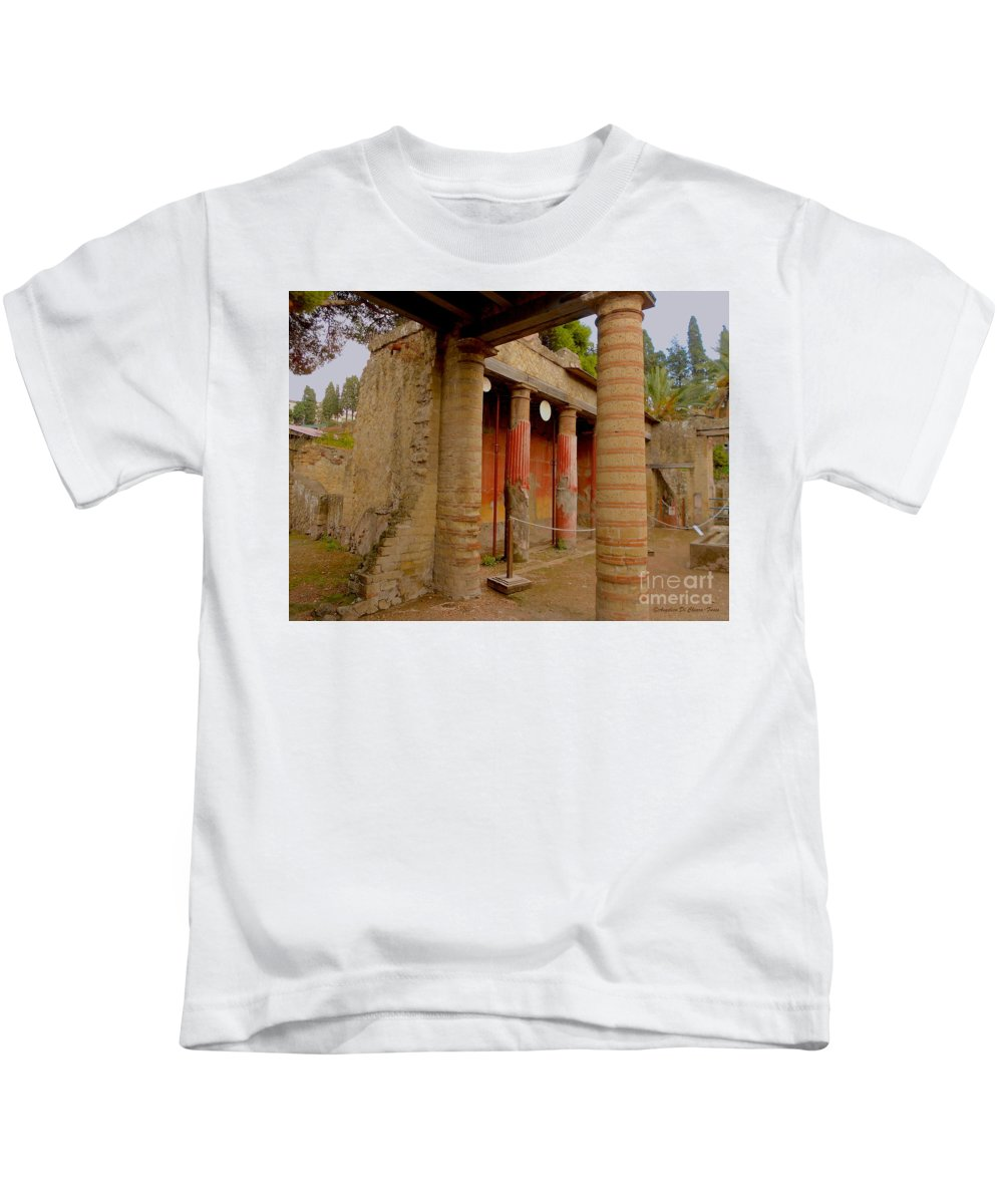 Cityscape Kids T-Shirt featuring the photograph Ercolano by Italian Art