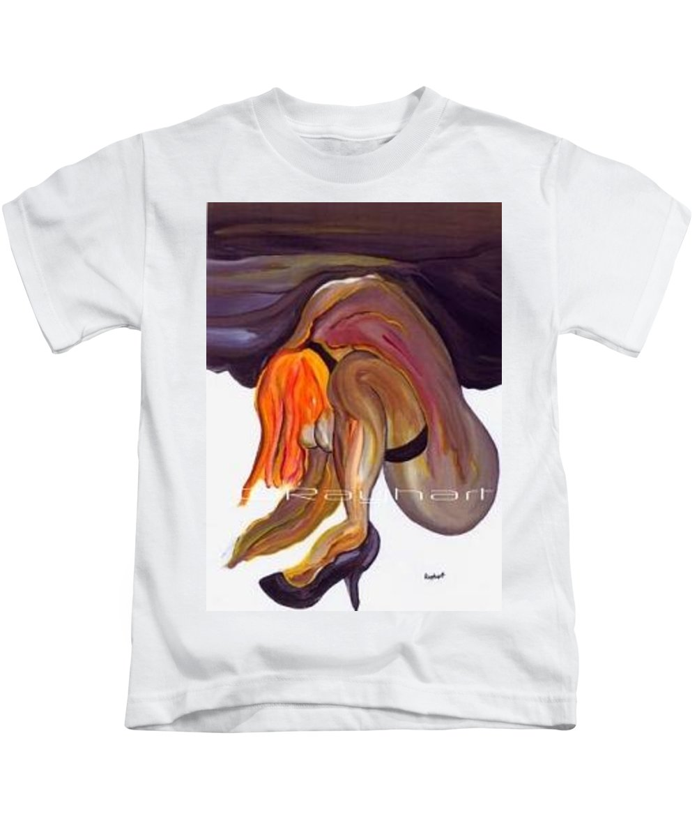 Female Abstract Kids T-Shirt featuring the painting Erotica - Sold by Artist Rayhart
