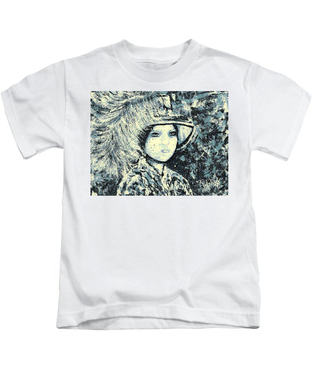 Woman Kids T-Shirt featuring the painting Evalina by Natalie Holland