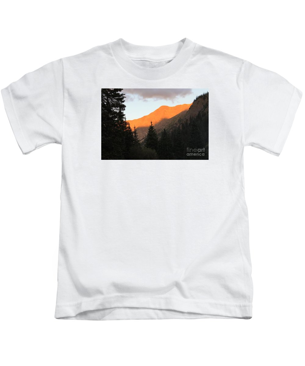 Nature Kids T-Shirt featuring the photograph Evening Fire by Tonya Hance