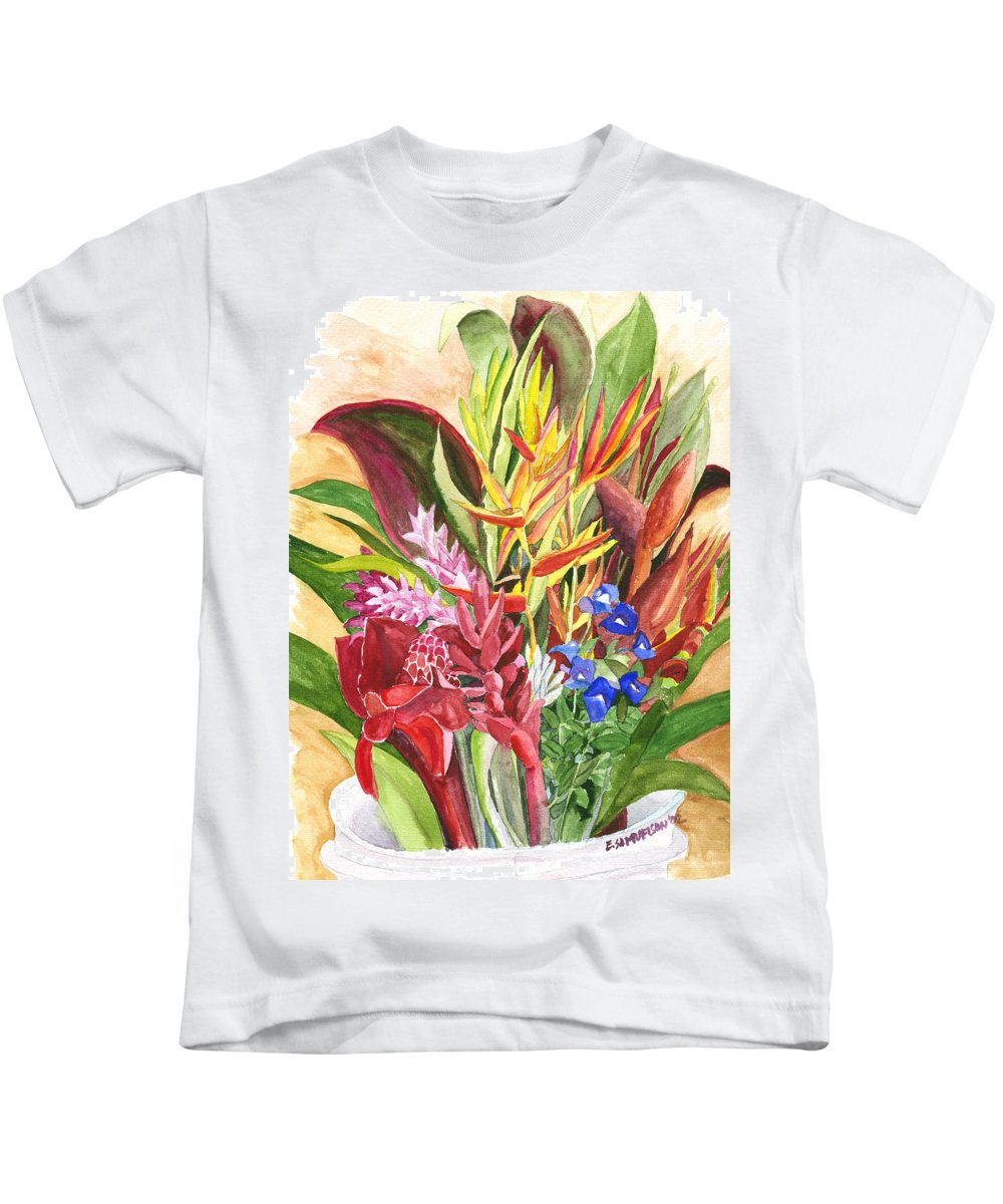 Flowers Kids T-Shirt featuring the painting Everywhere There Were Flowers by Eric Samuelson