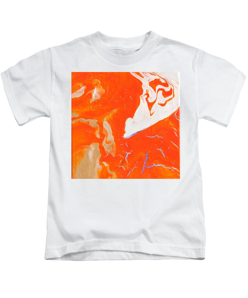 Fusionart Kids T-Shirt featuring the painting Evidence Of Angels by Ralph White