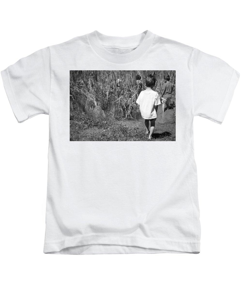 Kids T-Shirt featuring the photograph Exploration by Karis Tsolomitis