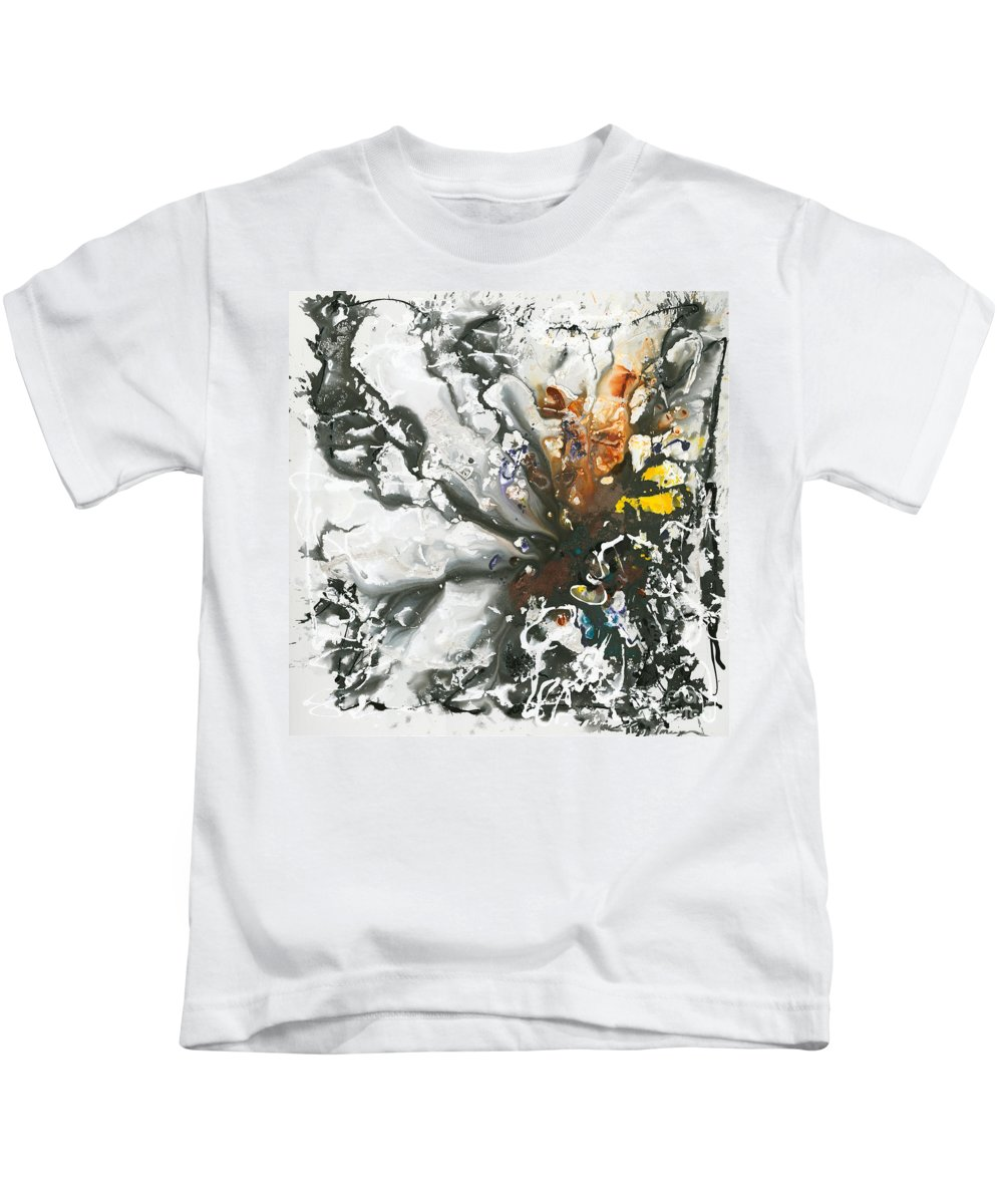 Rust Kids T-Shirt featuring the painting Explosion of Joy by Nadine Rippelmeyer