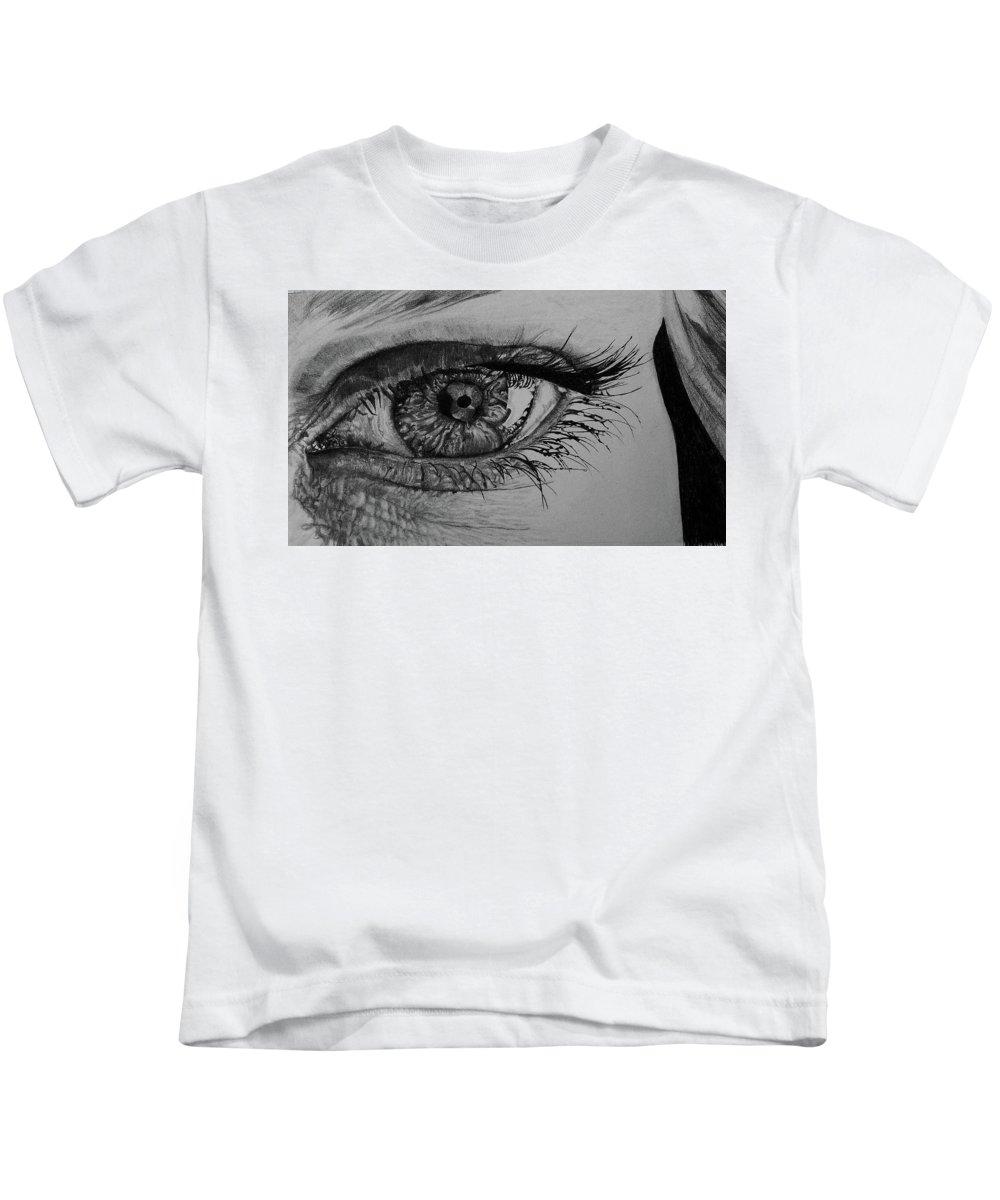 Eye Kids T-Shirt featuring the digital art Eye by Dorothy Binder