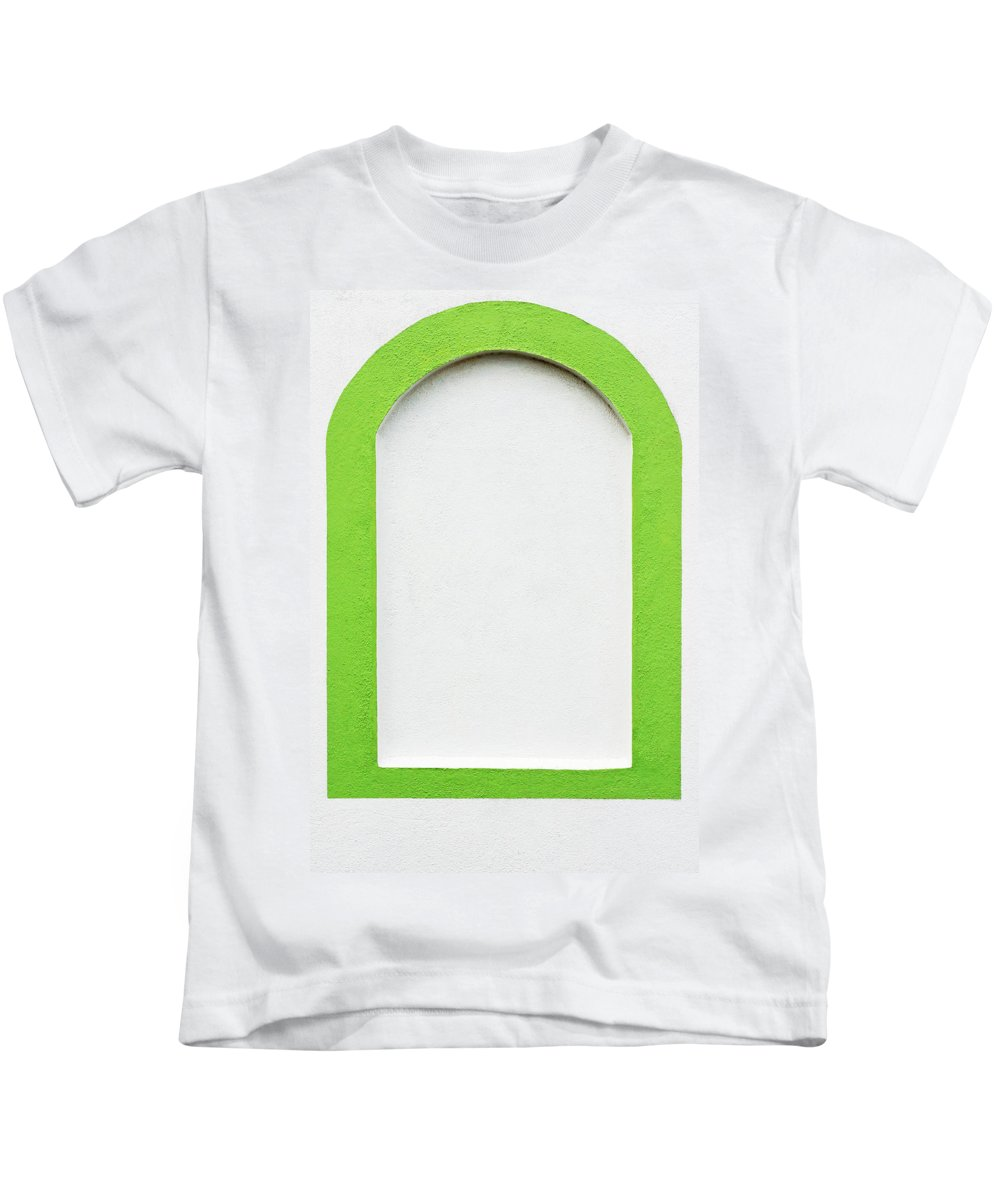 Advertising Kids T-Shirt featuring the photograph Fake Window by Moura Pereira
