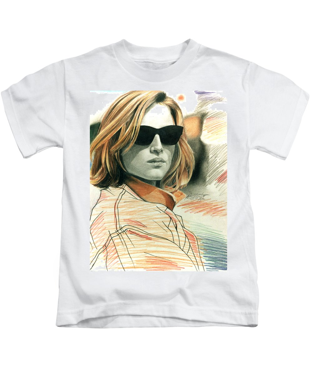 Shaun Kids T-Shirt featuring the painting Fashion Illustration by Shaun McNicholas
