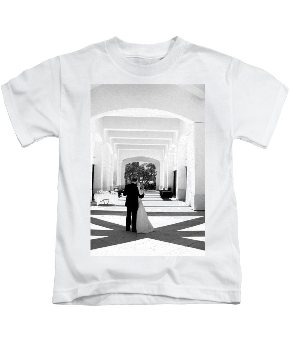 Dance Kids T-Shirt featuring the photograph Father And Bride by Anthony Jones