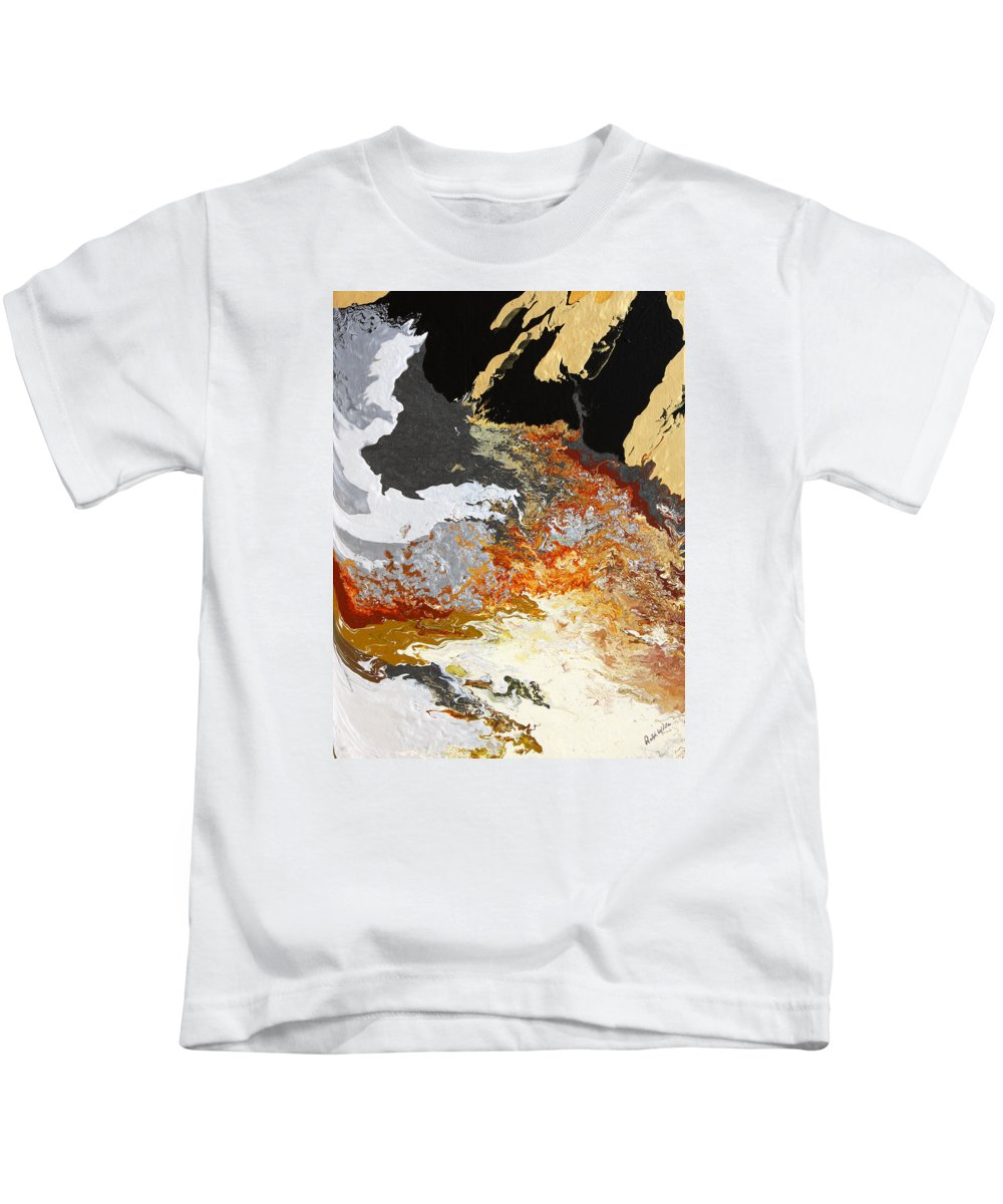 Fusionart Kids T-Shirt featuring the painting Fathom by Ralph White