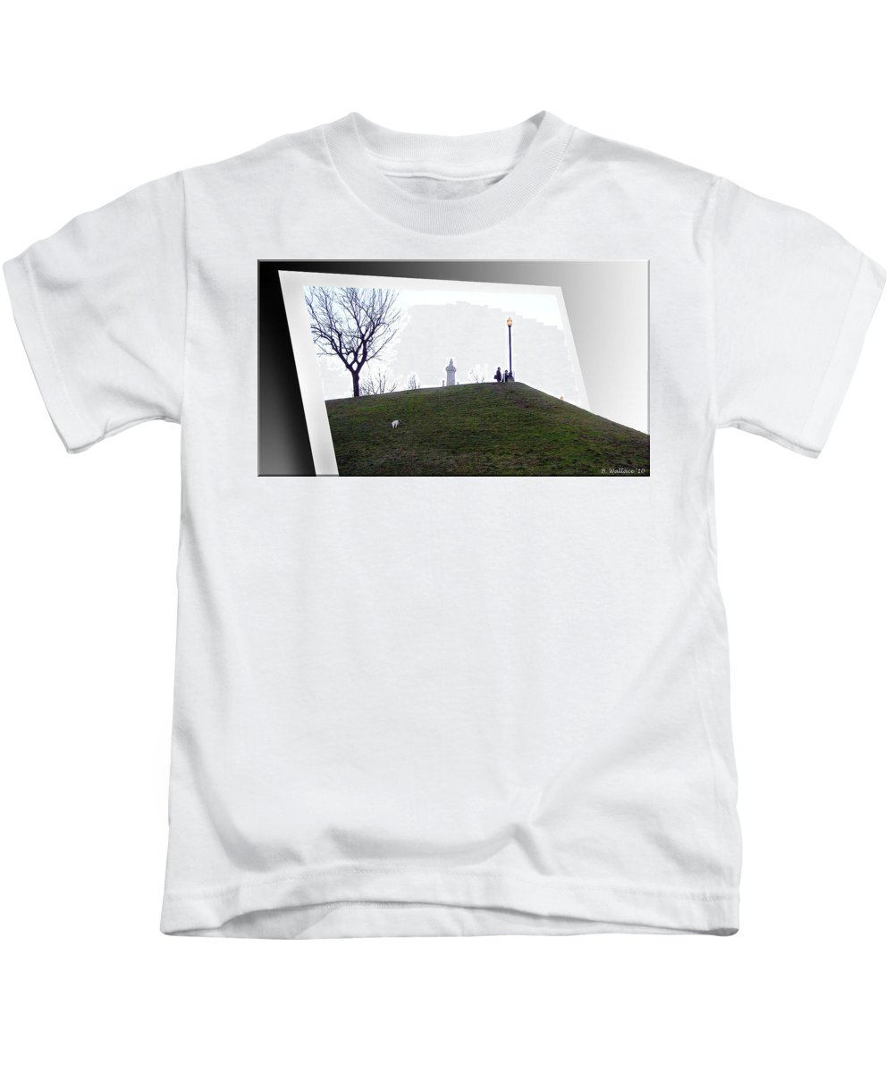 2d Kids T-Shirt featuring the photograph Federal Hill Dog by Brian Wallace