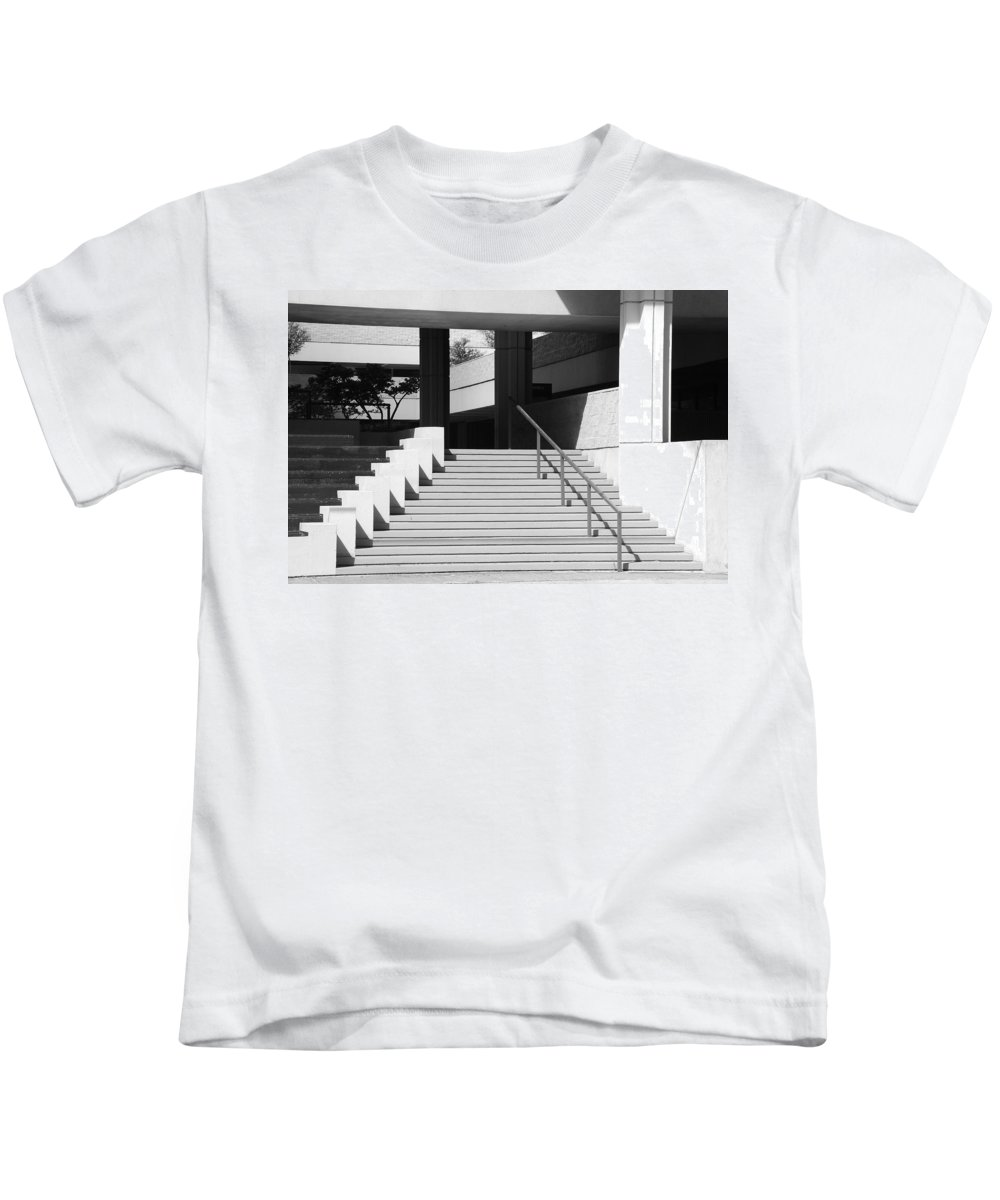 Architecture Kids T-Shirt featuring the photograph Federal Stairs by Rob Hans