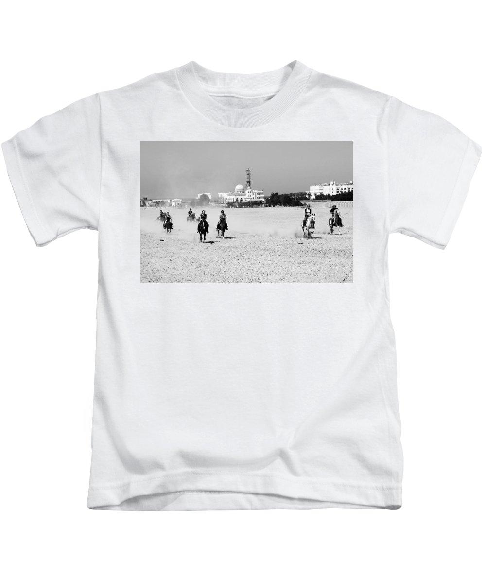 Jezcself Kids T-Shirt featuring the photograph Festival by Jez C Self