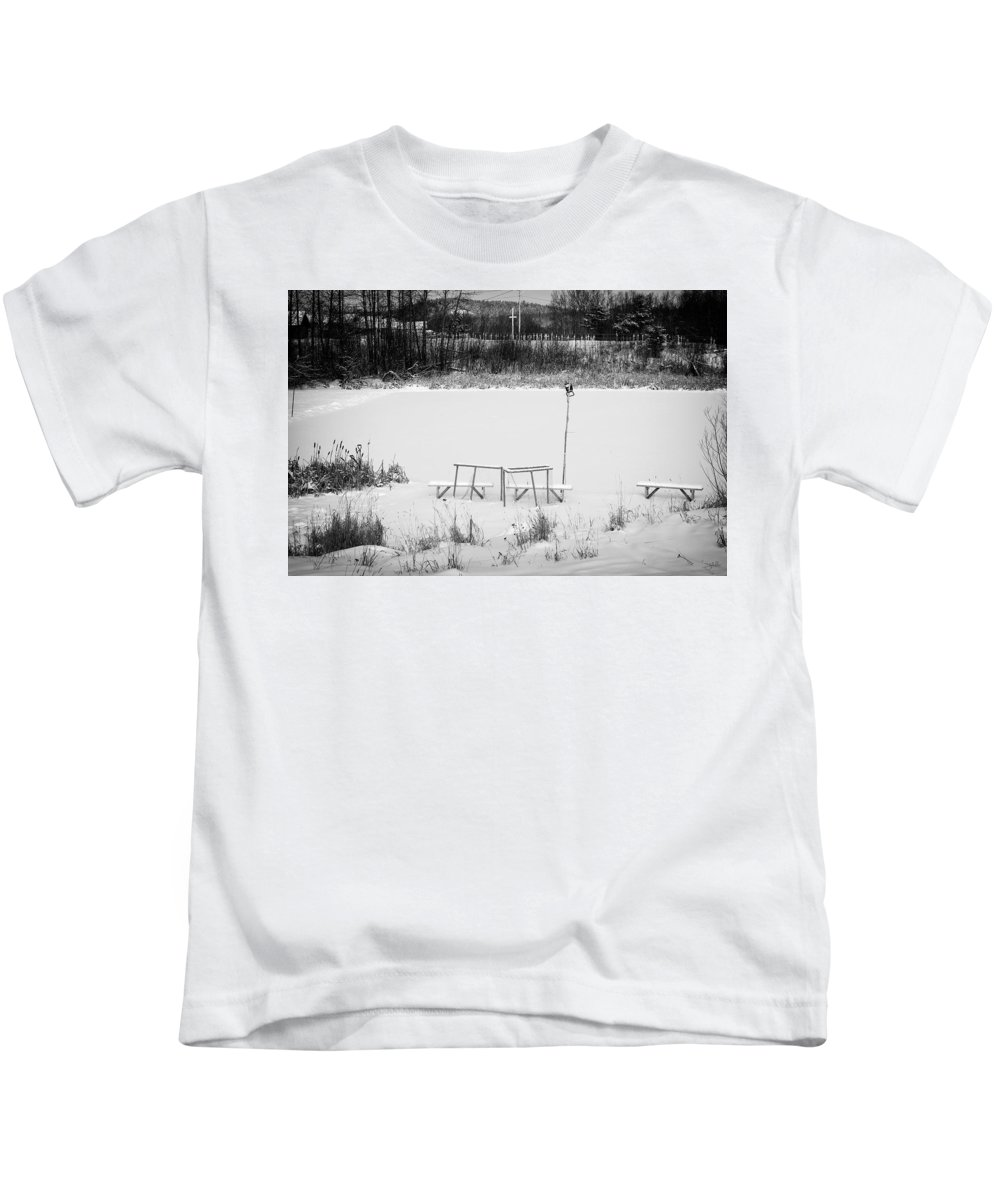 Hockey Kids T-Shirt featuring the photograph Field Of Dreams by Doug Gibbons