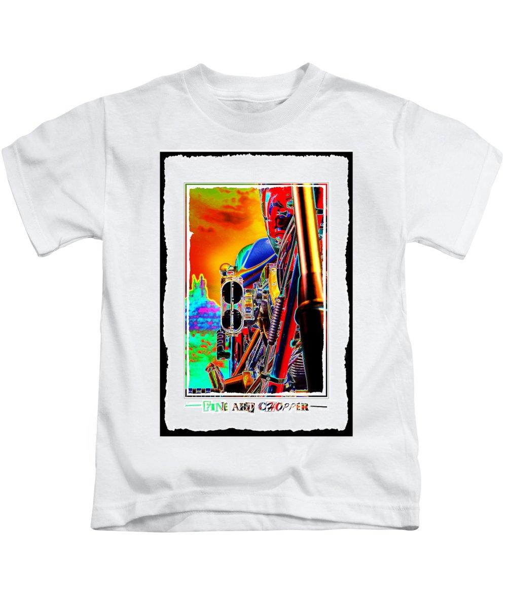 Pop Art Kids T-Shirt featuring the photograph Fine Art Chopper I by Mike McGlothlen
