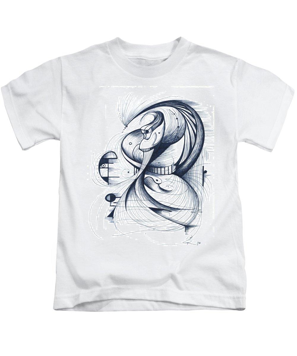Dancer Kids T-Shirt featuring the digital art Flamenco Dancer by Nicholas Burningham