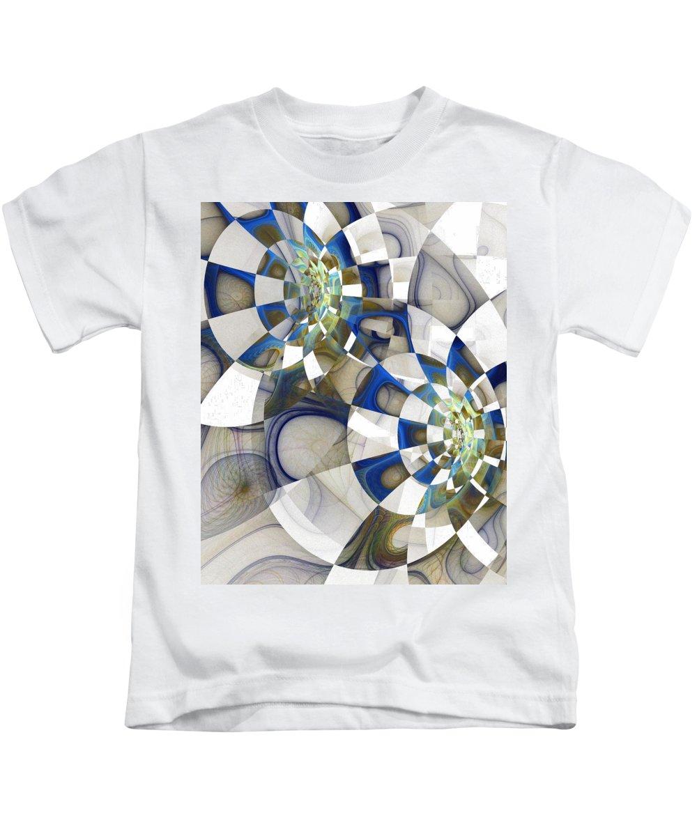 Digital Art Kids T-Shirt featuring the digital art Flight by Amanda Moore