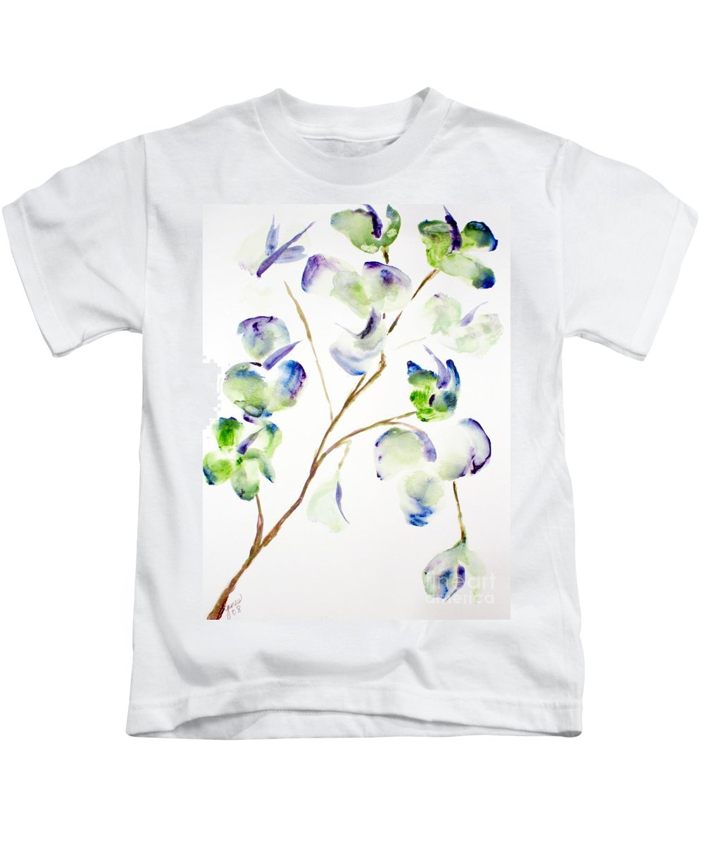 Flower Kids T-Shirt featuring the painting Flower by Shelley Jones