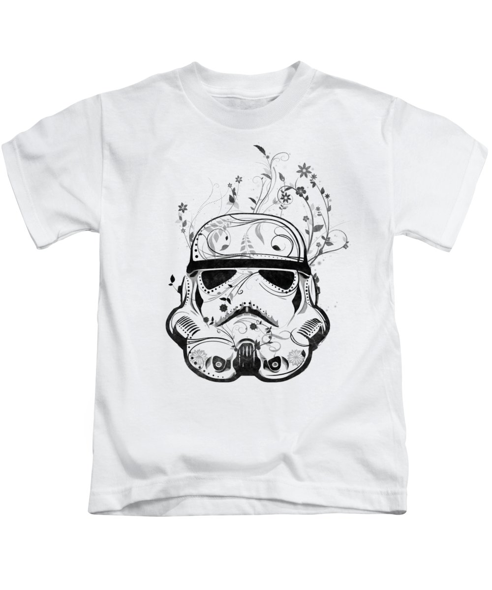 Starwars Kids T-Shirt featuring the digital art Flower Trooper by Nicklas Gustafsson