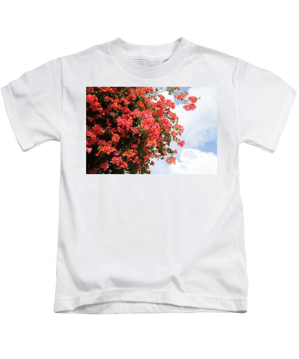 Hawaii Kids T-Shirt featuring the photograph Flowering Tree by Nadine Rippelmeyer