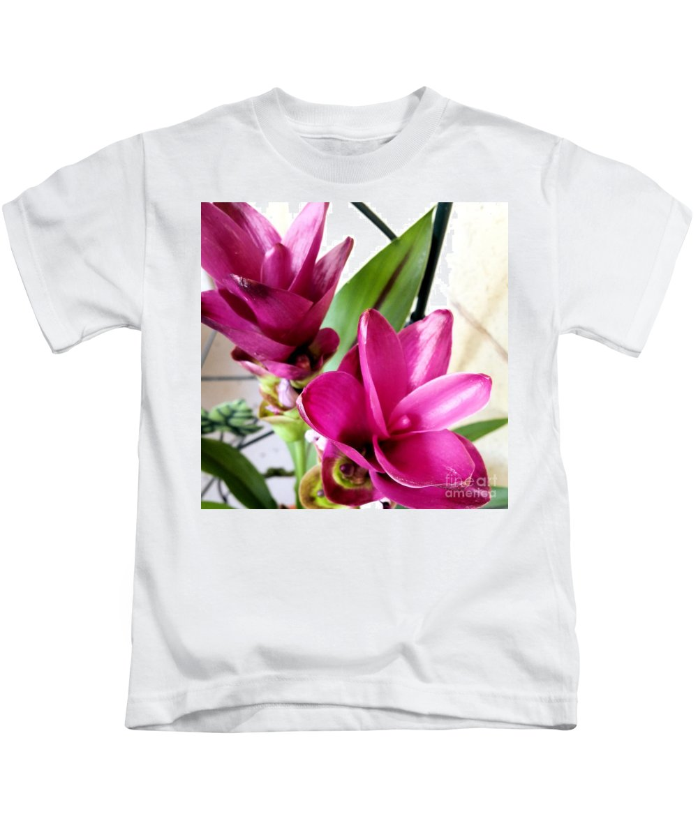 Flowers Kids T-Shirt featuring the photograph Flowers by Katherine W Morse
