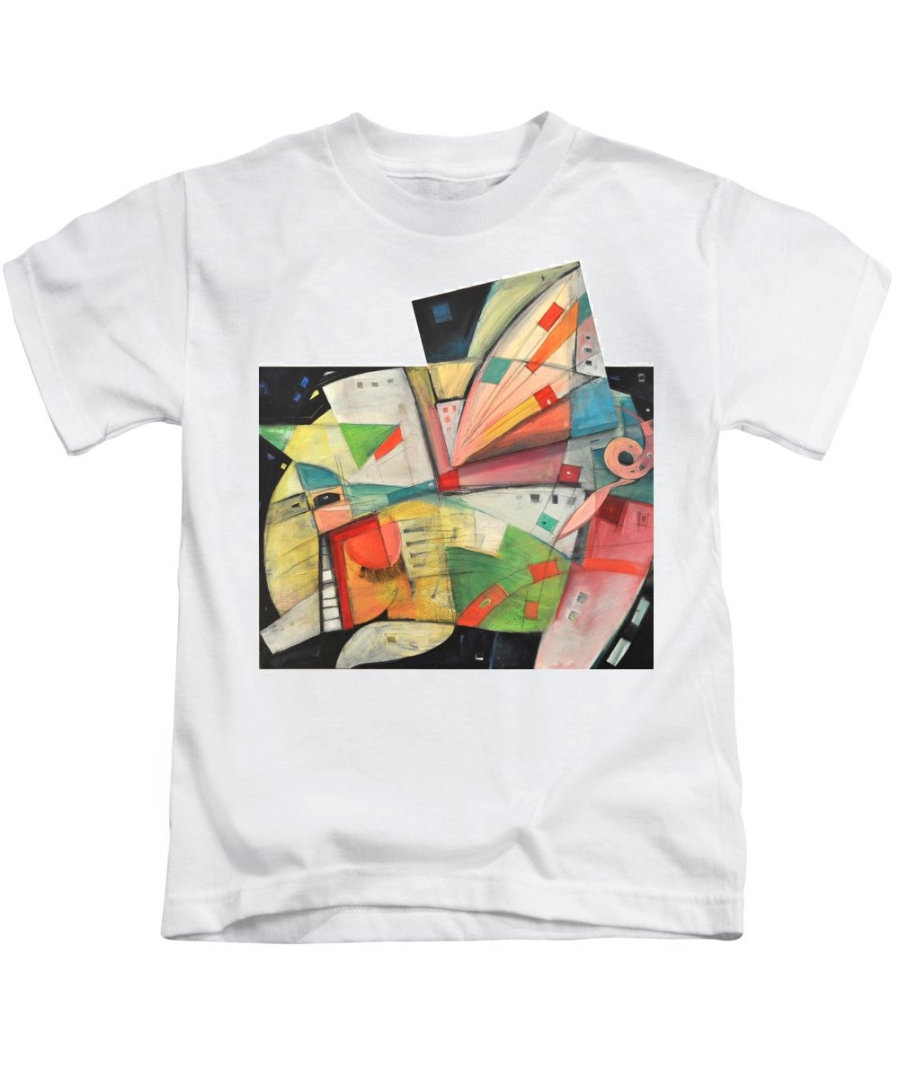 Pig Kids T-Shirt featuring the painting Flying Pig by Tim Nyberg