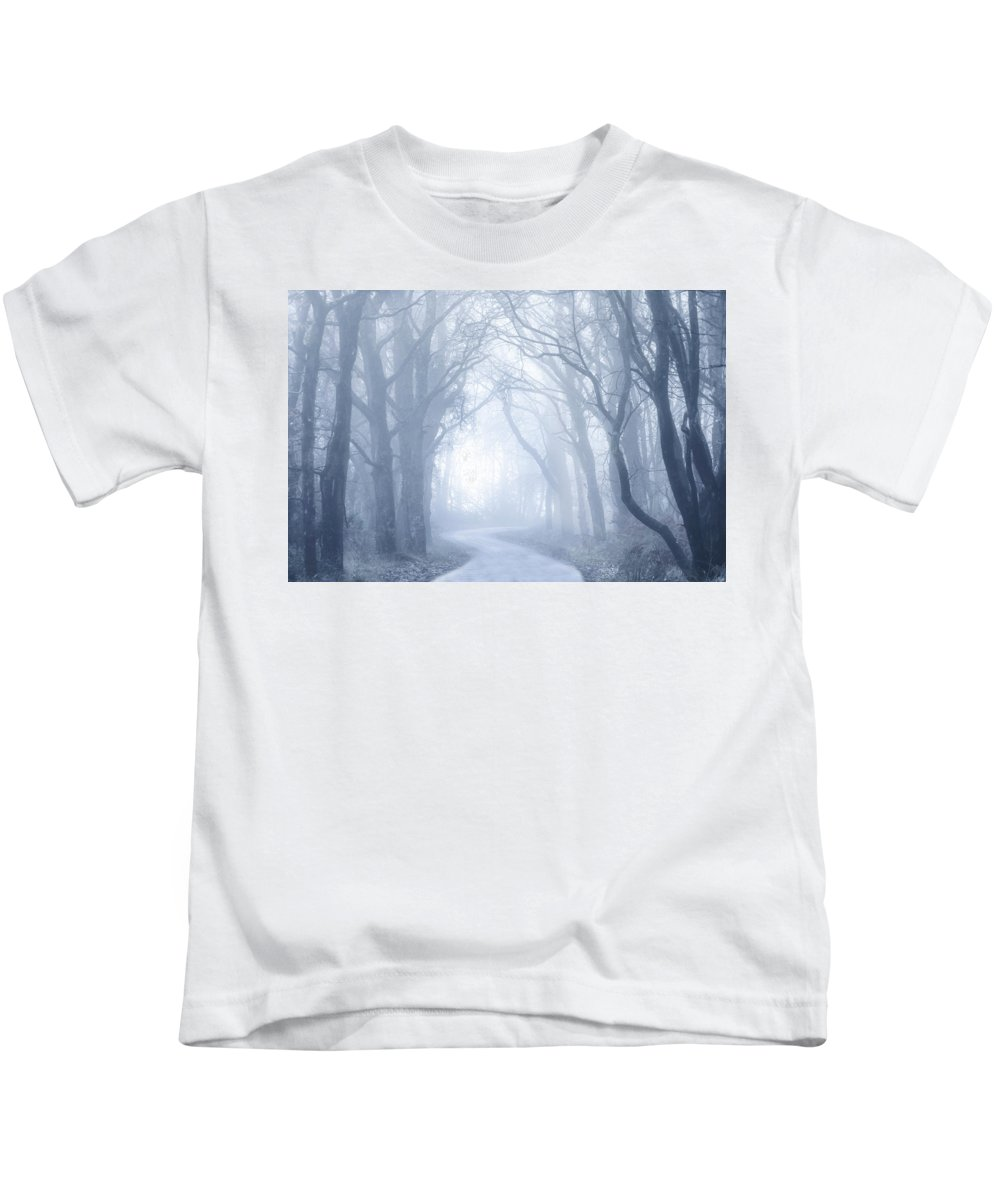 Fog Kids T-Shirt featuring the photograph Foggy Holloway by Joana Kruse