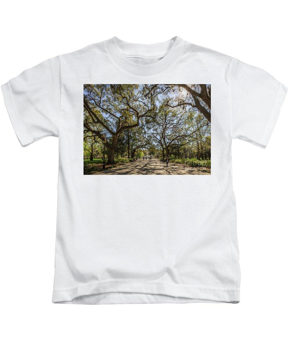 Savannah Kids T-Shirt featuring the photograph Forsyth Park by Joan McCool