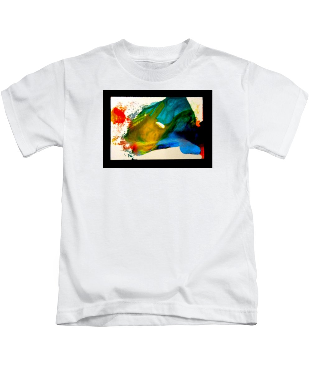 Abstract Kids T-Shirt featuring the painting Fragmented by Kruti Shah
