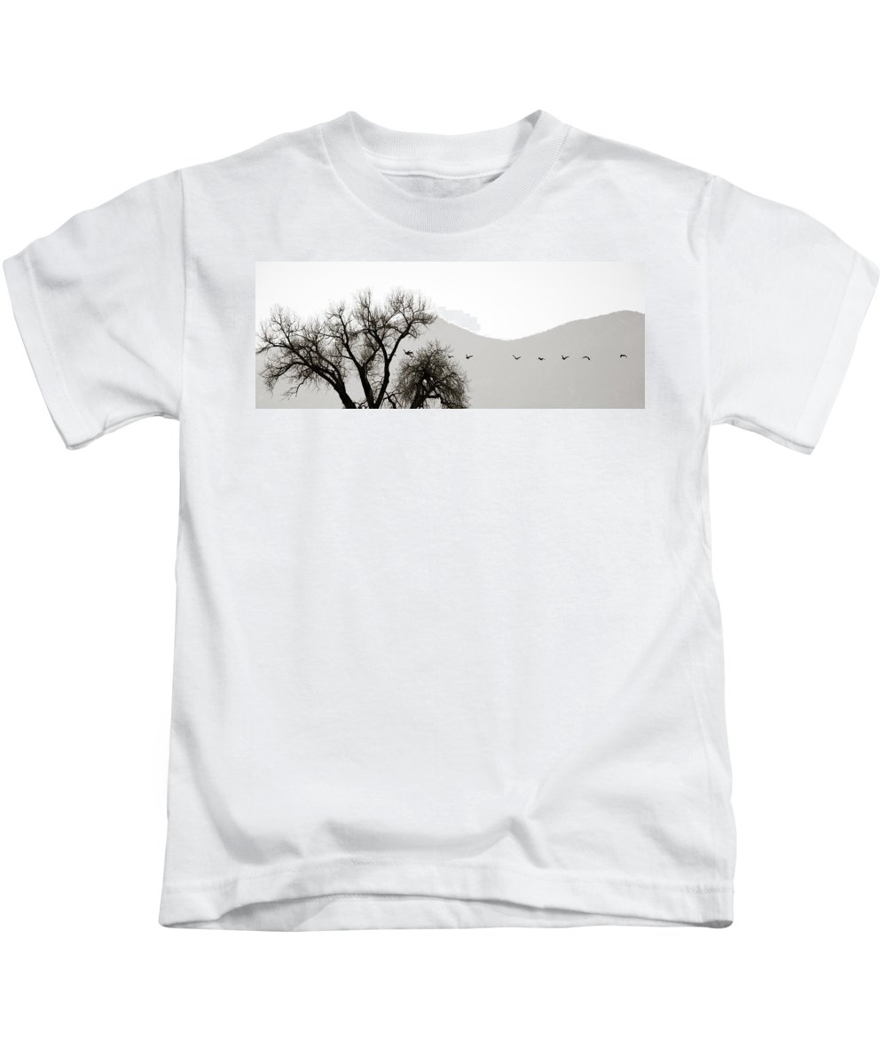Horizon Kids T-Shirt featuring the photograph Free Flying by Marilyn Hunt