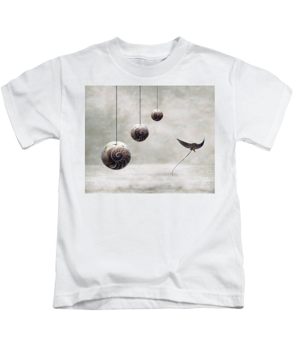 Surrealism Kids T-Shirt featuring the photograph Free by Jacky Gerritsen