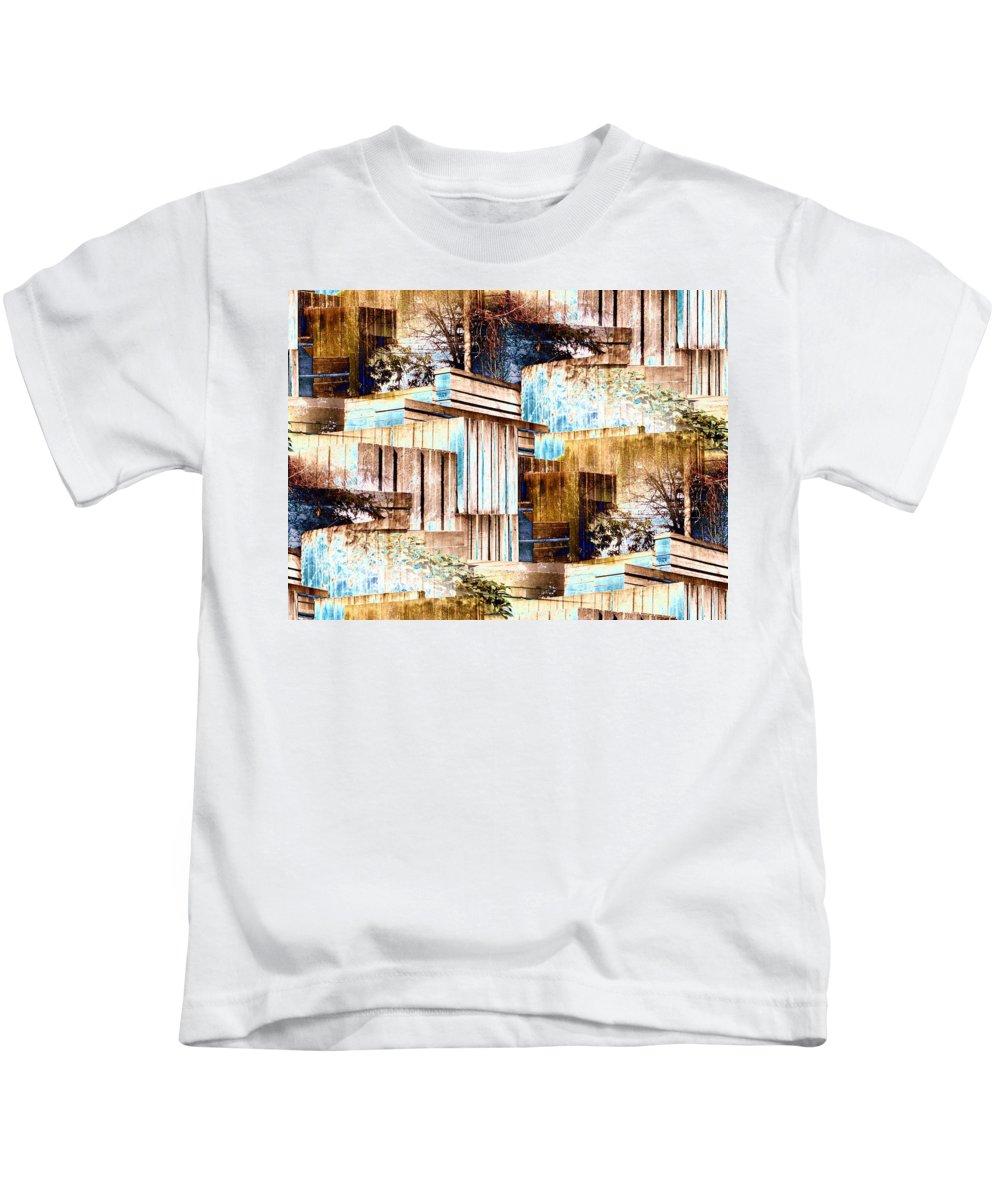 Seattle Kids T-Shirt featuring the digital art Freeway Park by Tim Allen
