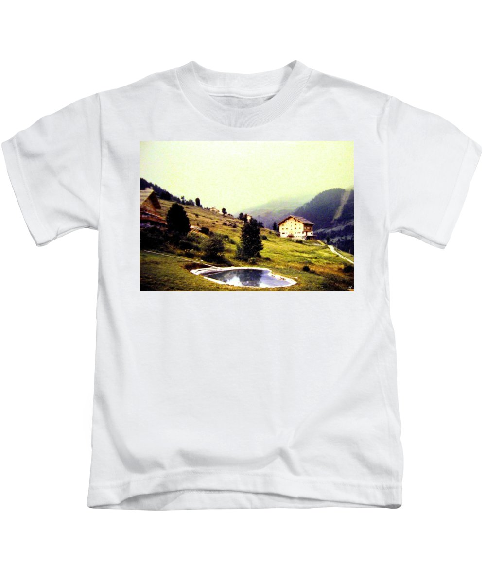 1955 Kids T-Shirt featuring the photograph French Alps 1955 by Will Borden